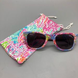 Lilly Pulitzer colorful coral pattern sunglasses